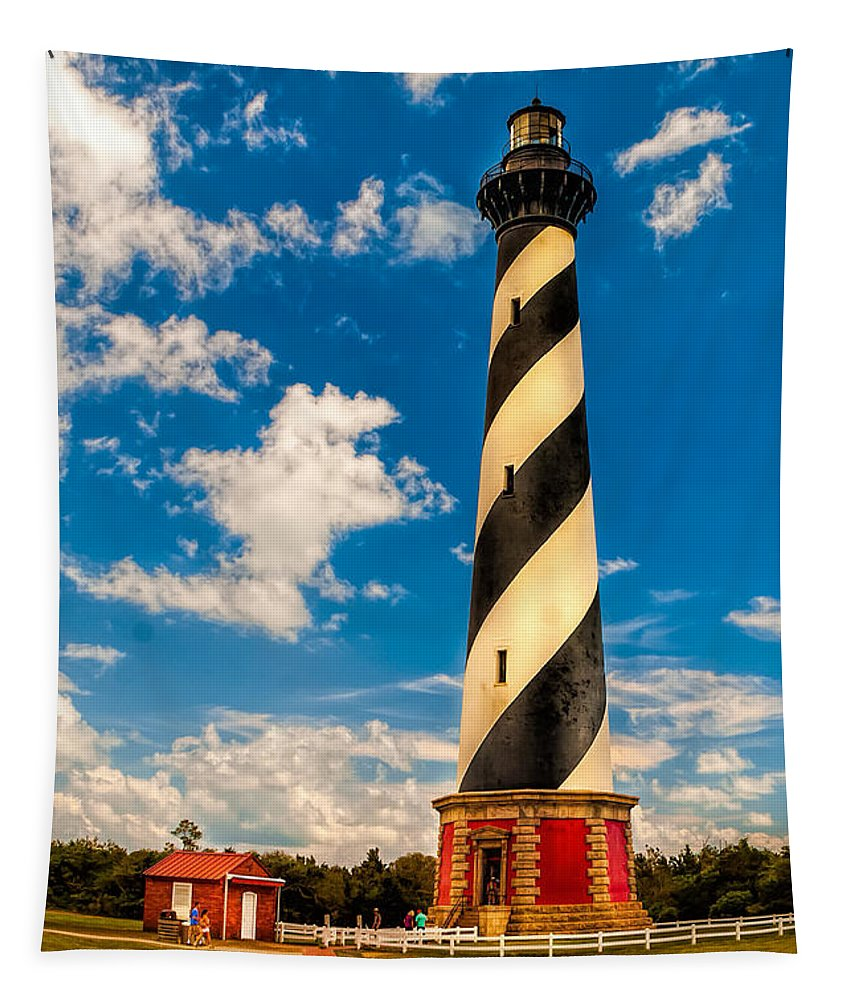 Lighthouse Tapestry featuring the photograph Path To Cape Hatteras Light by Nick Zelinsky