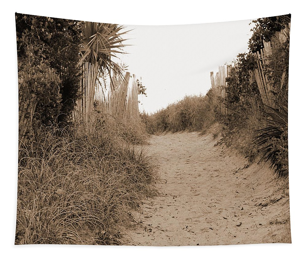Beach Tapestry featuring the photograph Pathway To The Beach by Cynthia Guinn