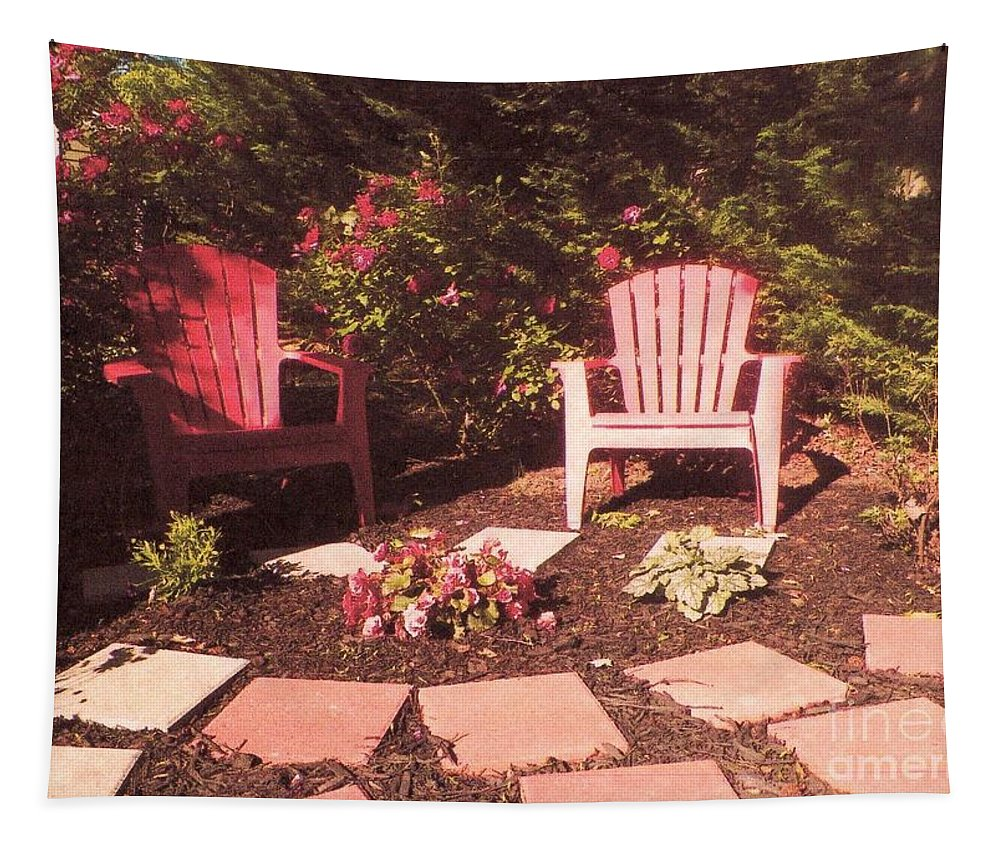 Garden Patio Tapestry featuring the photograph Patio Garden by Elinor Helen Rakowski