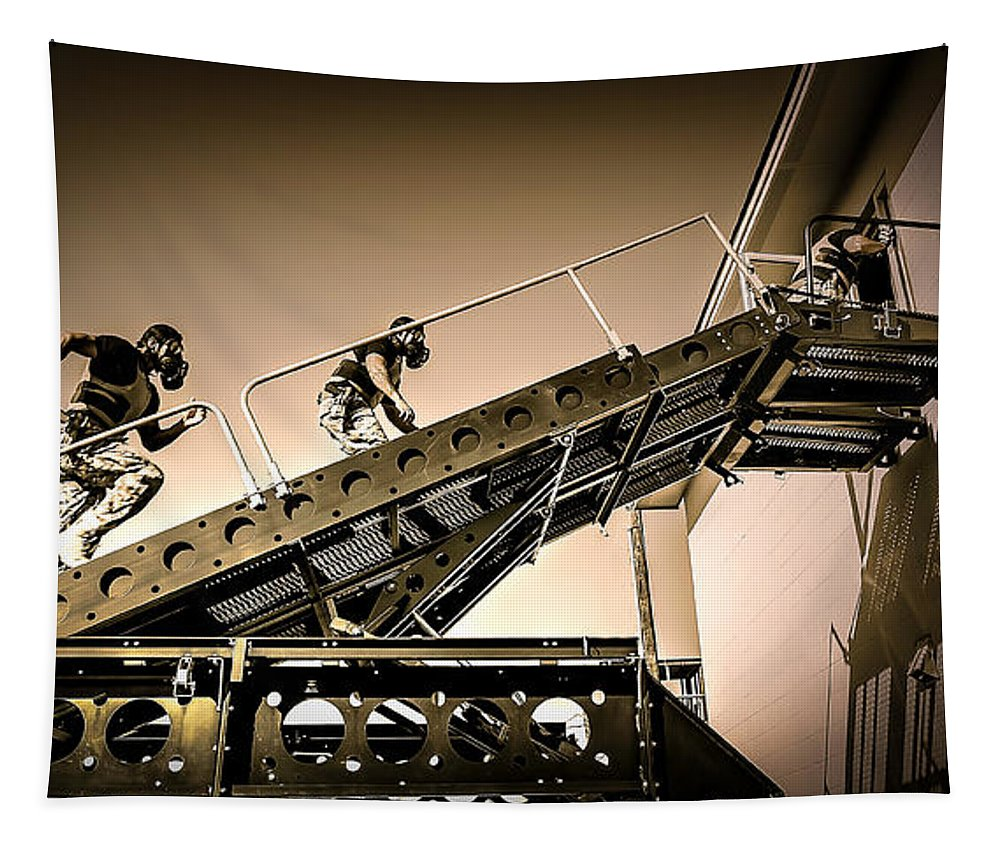 Patriot3 Elevated Tactics System Tapestry featuring the photograph Patriot3 Elevated Tactics System by David Morefield