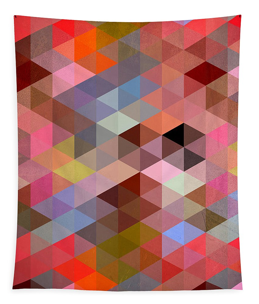 Contemporary Tapestry featuring the digital art Pattern Of Triangle by Mark Ashkenazi