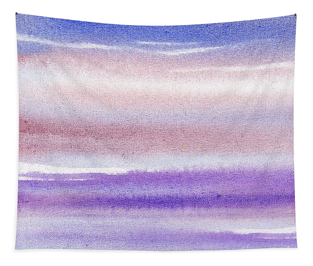 Sky Tapestry featuring the painting Pearly Sky Abstract IIi by Irina Sztukowski