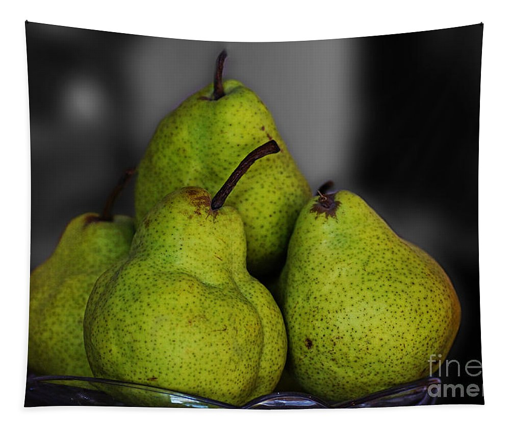 Pears Tapestry featuring the photograph Pears by Ben Yassa