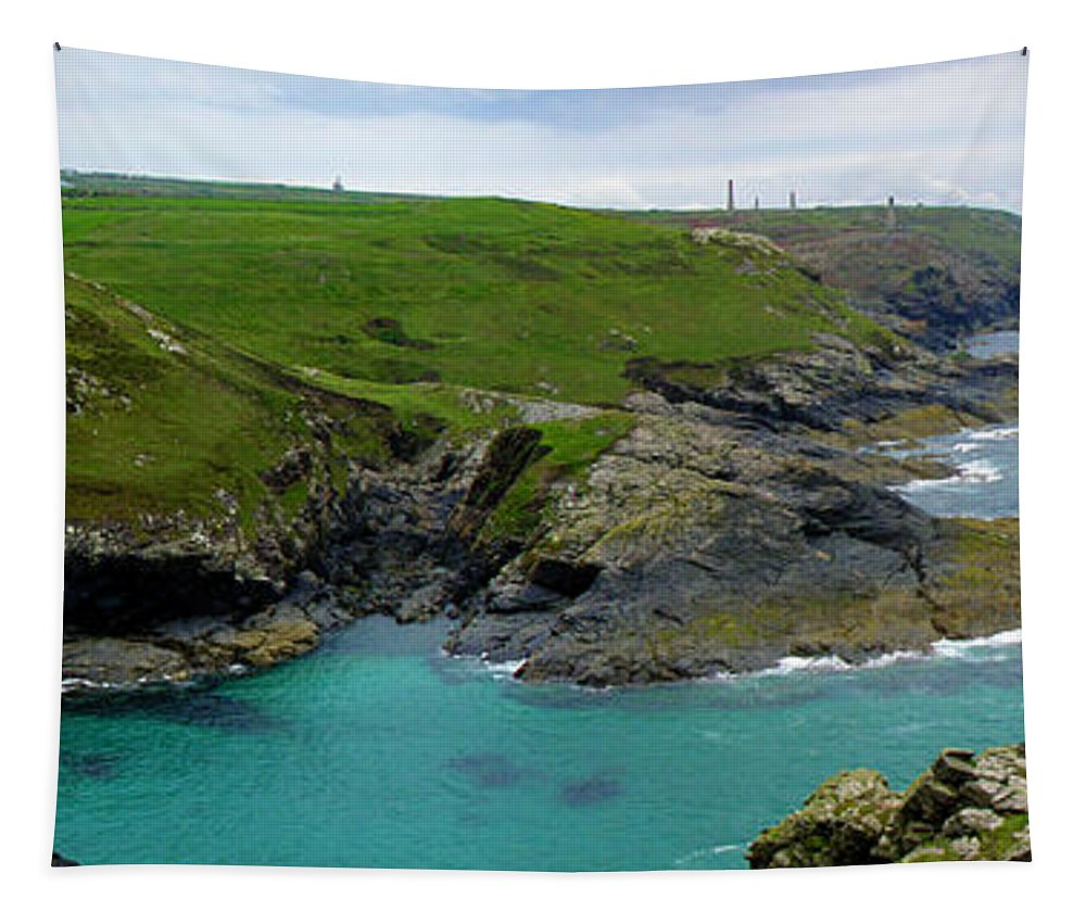 Levant Tapestry featuring the photograph Pendeen Watch To Levant by Terri Waters