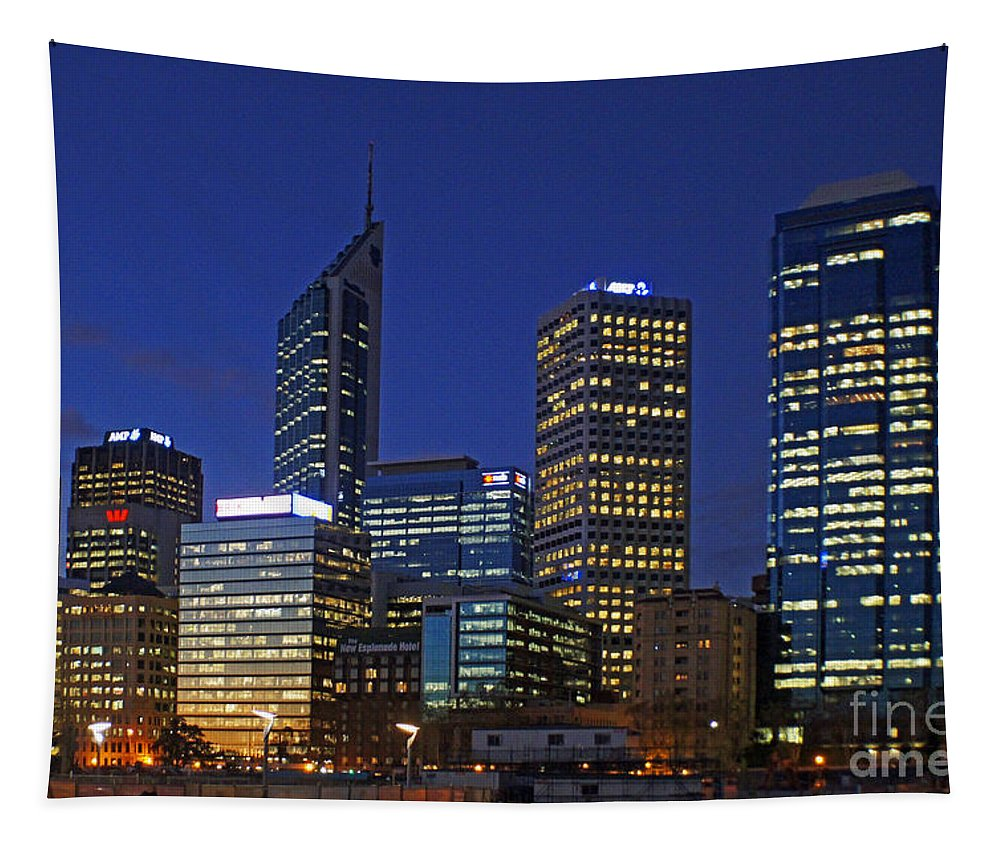 Cityscape Tapestry featuring the photograph Perth 6 by Ben Yassa
