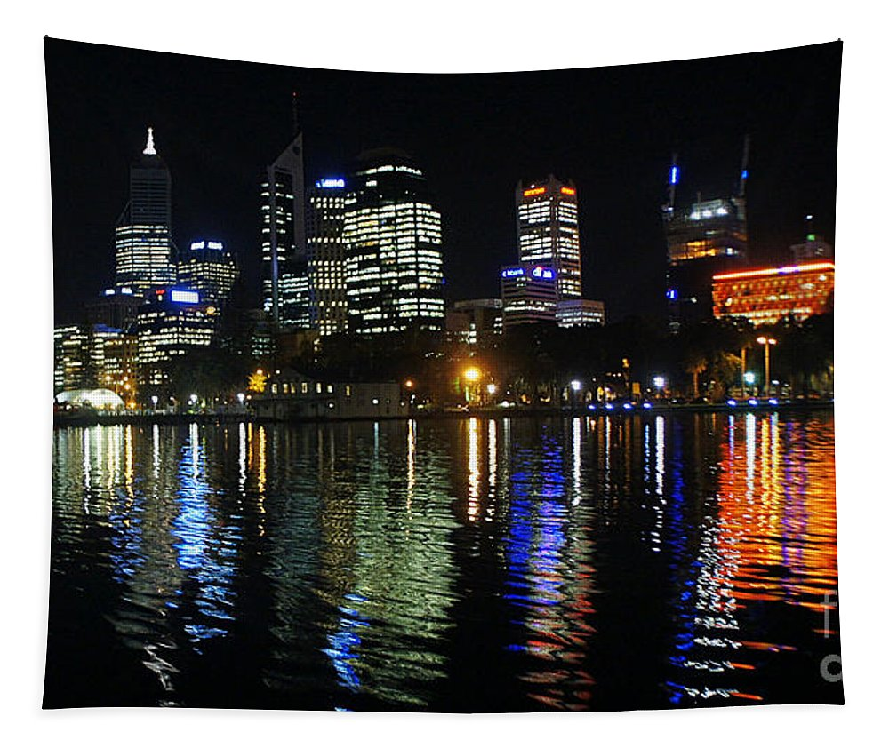 Cityscape Tapestry featuring the photograph Perth 8 by Ben Yassa