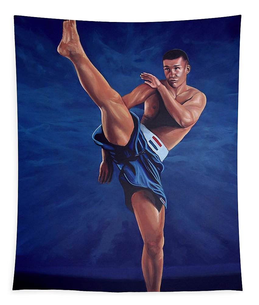 Peter Aerts Tapestry featuring the painting Peter Aerts by Paul Meijering