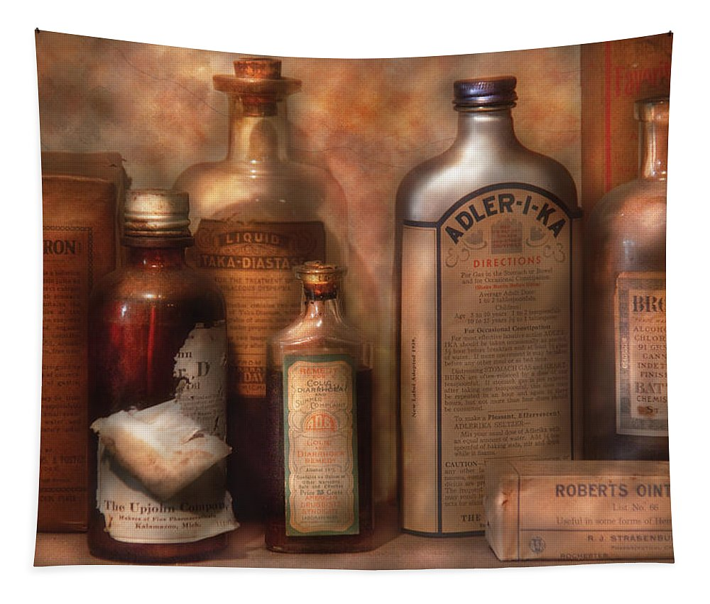 Doctor Tapestry featuring the photograph Pharmacy - Indigestion Remedies by Mike Savad