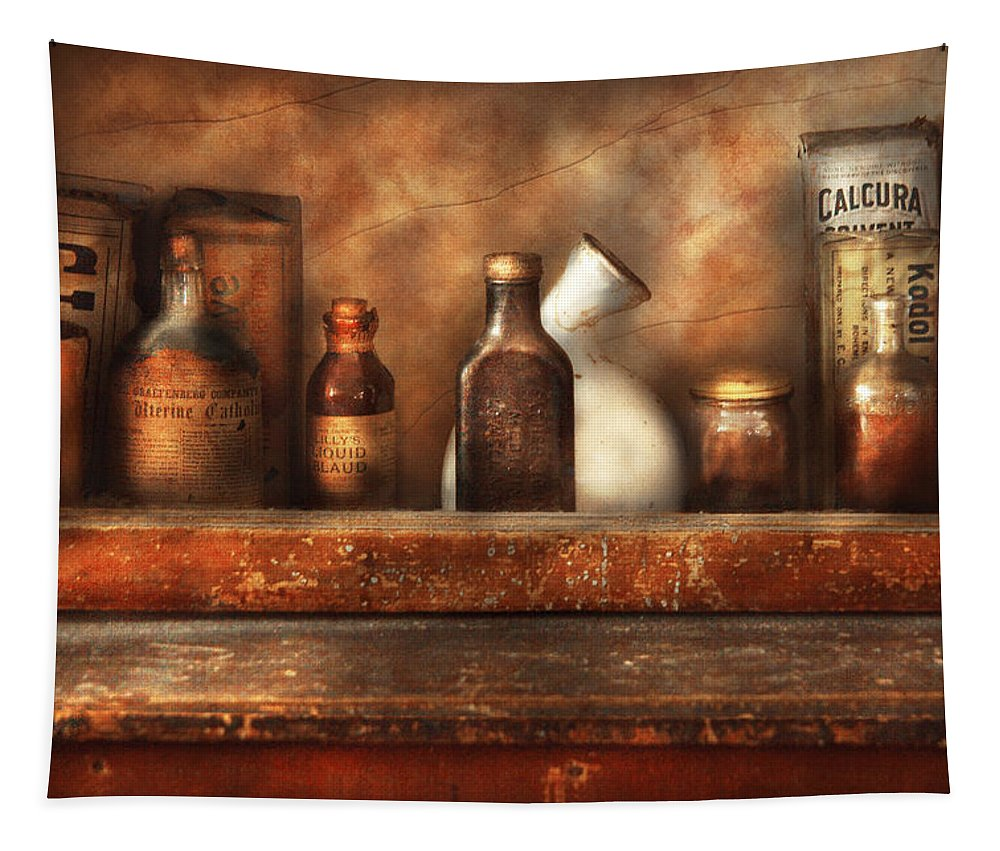 Savad Tapestry featuring the photograph Pharmacy - Need A Laxative by Mike Savad