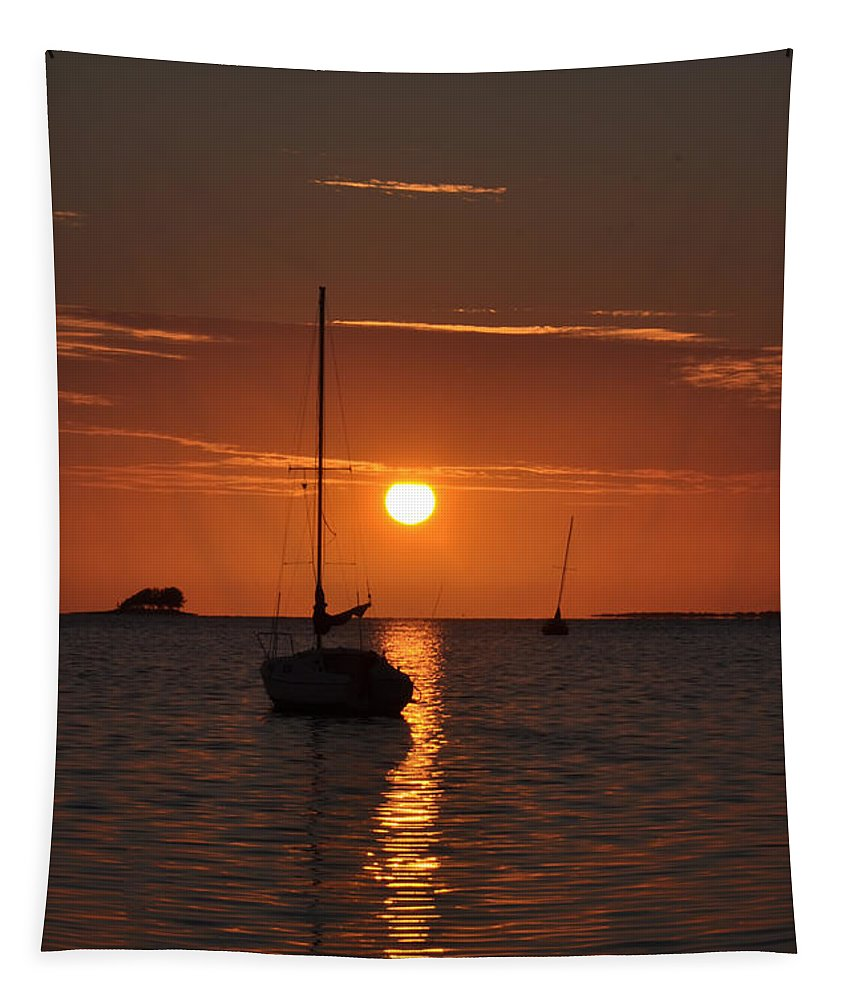 Picture Tapestry featuring the photograph Picture Perfect Sunset by Bill Cannon
