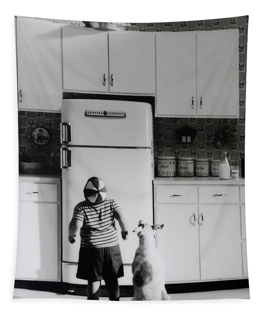 Pie Tapestry featuring the photograph PIE IN THE SKY in BLACK AND WHITE by Rob Hans
