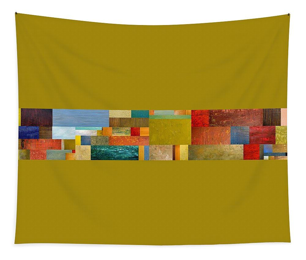 Skinny Tapestry featuring the painting Pieces Project Lv by Michelle Calkins