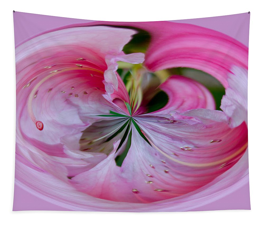 Pink Tapestry featuring the photograph Pink Blossom Abstract by Tikvah's Hope