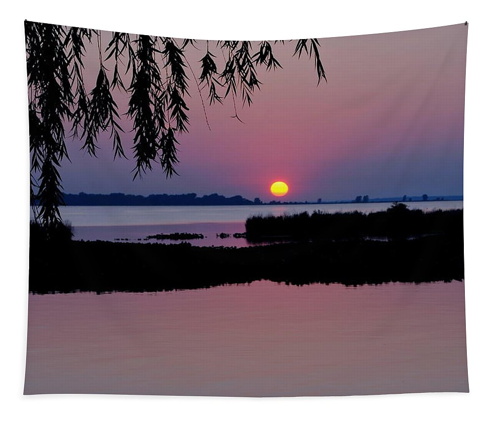 Pink Tapestry featuring the photograph Pink Paradise Pond by Frozen in Time Fine Art Photography