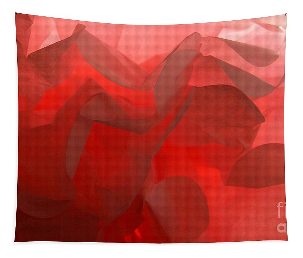 Abstract Tapestry featuring the photograph Pink Petals by Karen Adams