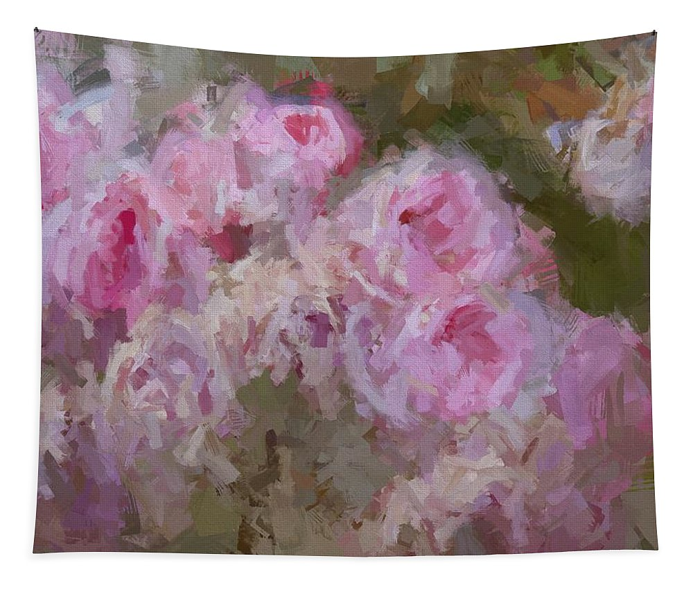 Rose Abstract.abstract Tapestry featuring the photograph Pink Rose Abstract by Alice Gipson