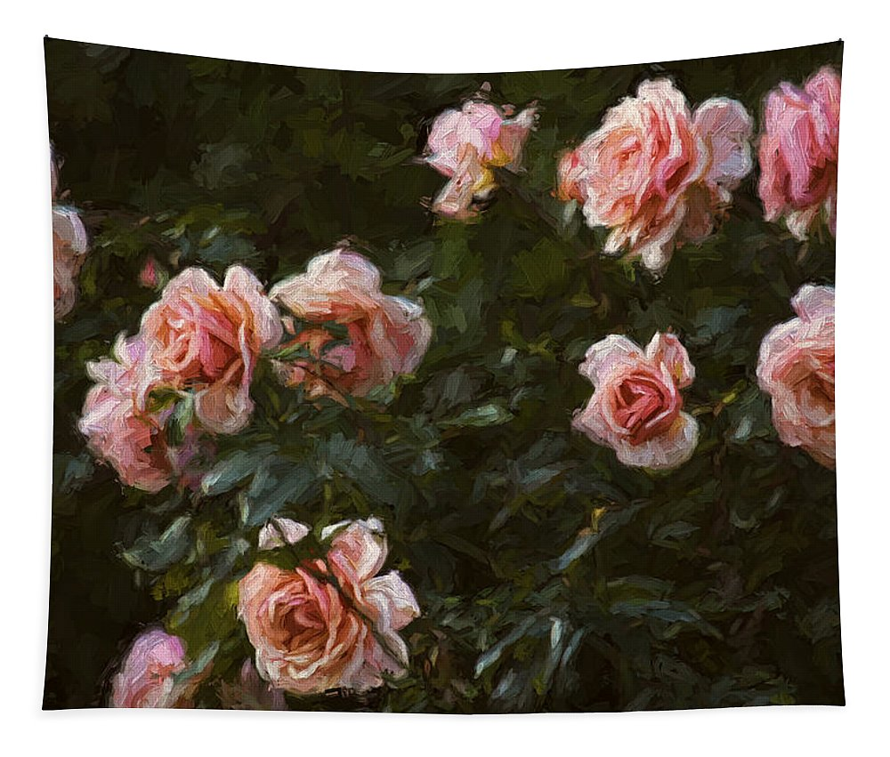 Hh Photography Of Florida Tapestry featuring the photograph Flowers - Pink Roses by HH Photography of Florida