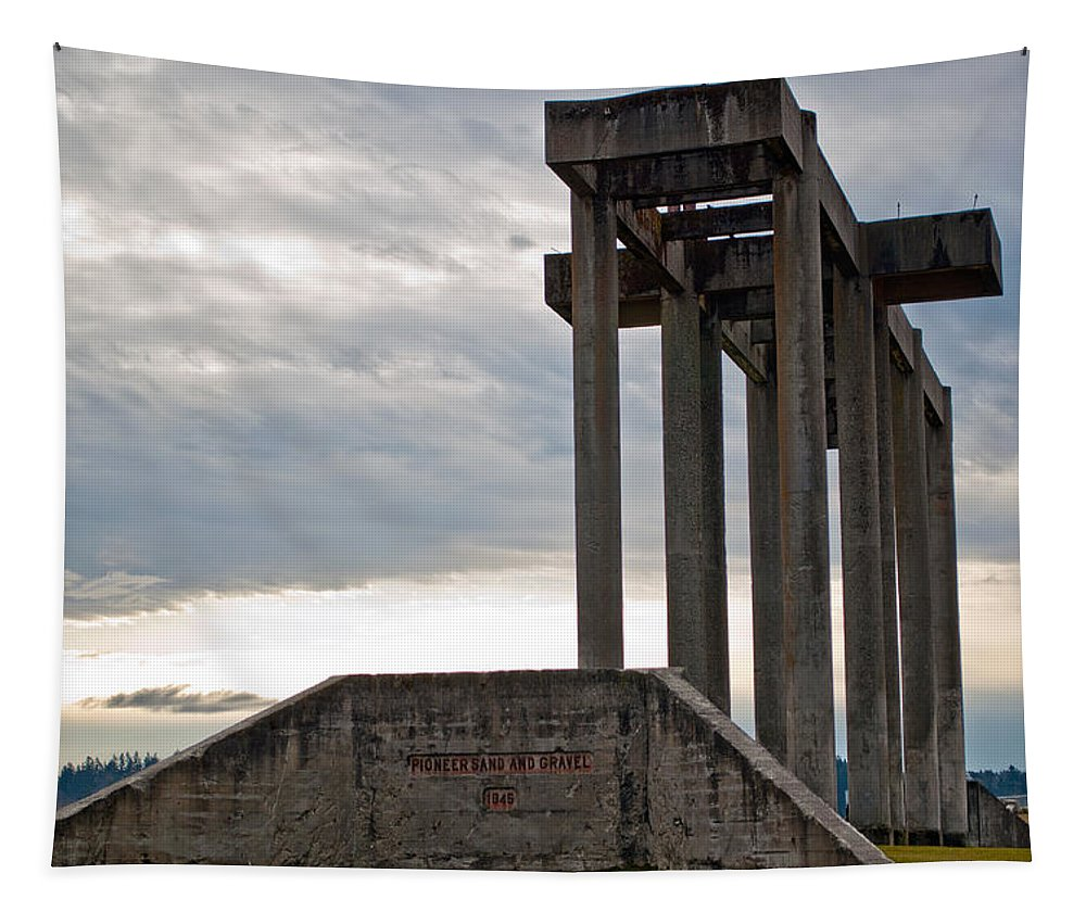 Chambers Bay Tapestry featuring the photograph Pioneer Sand And Gravel Pit by Tikvah's Hope