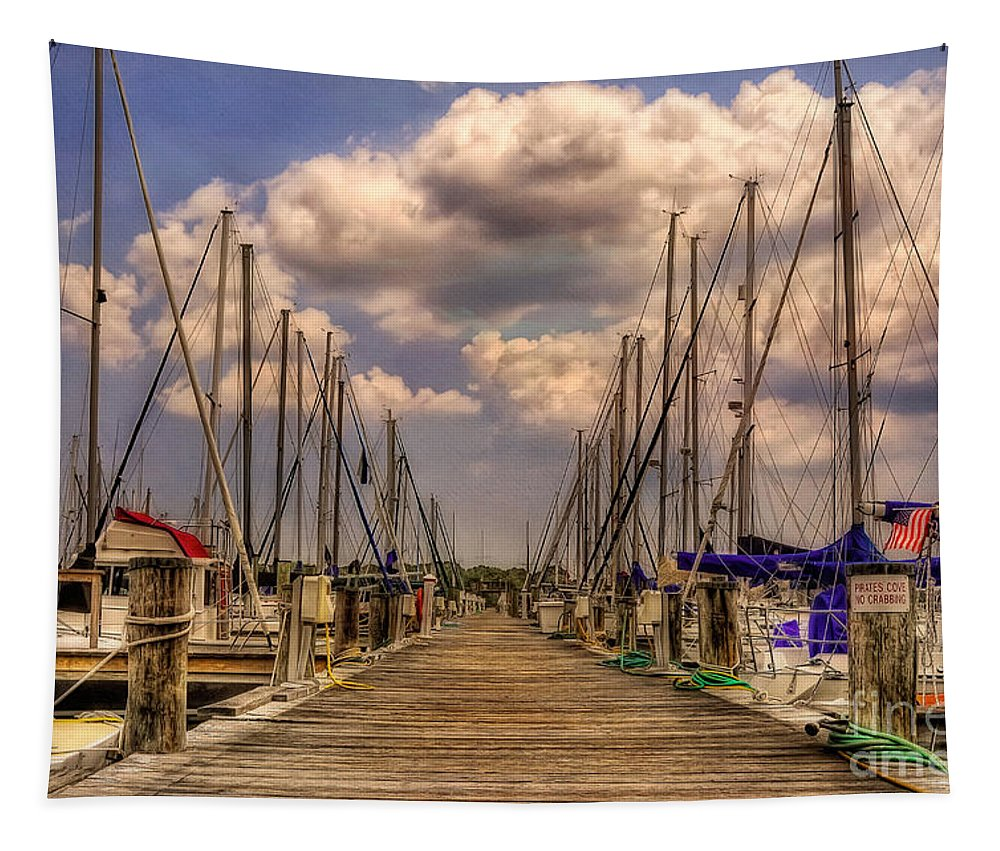 Sail Boat Tapestry featuring the photograph Pirate's Cove by Lois Bryan