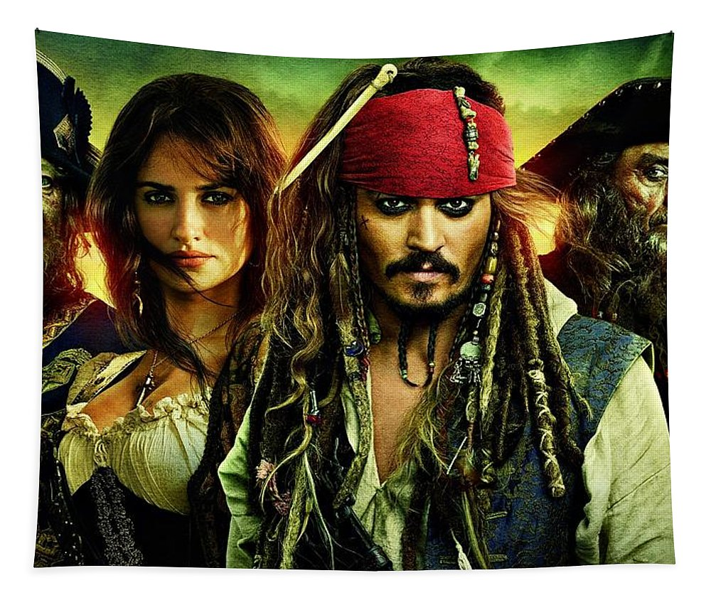 Pirates Of The Caribbean Tapestry featuring the photograph Pirates Of The Caribbean Stranger Tides by Movie Poster Prints