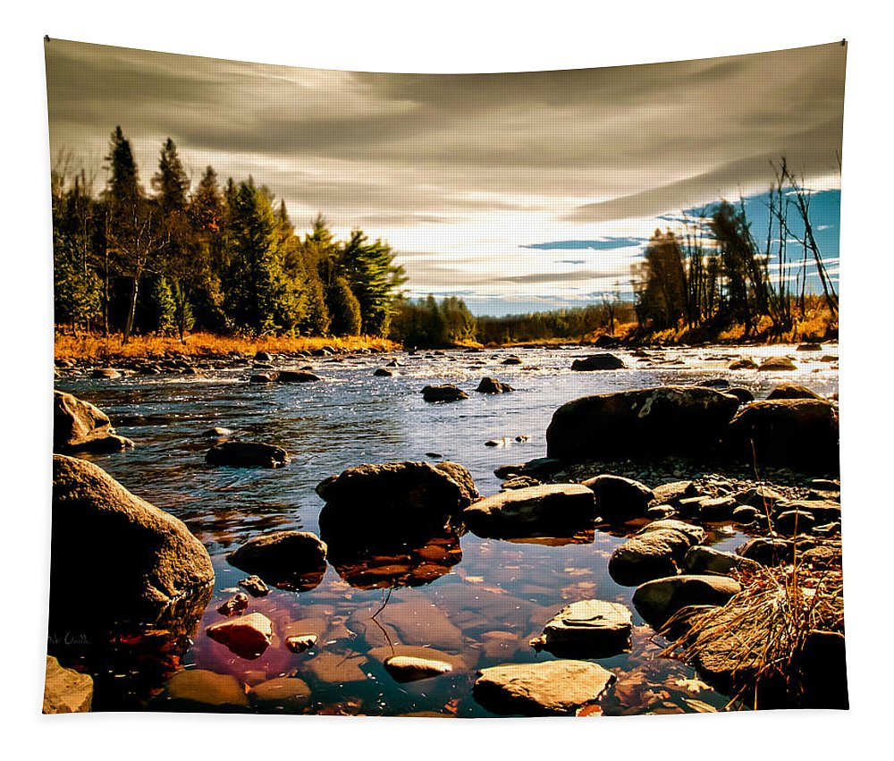 Piscataquis River Tapestry featuring the photograph Piscataquis River Dover-foxcroft Maine by Bob Orsillo