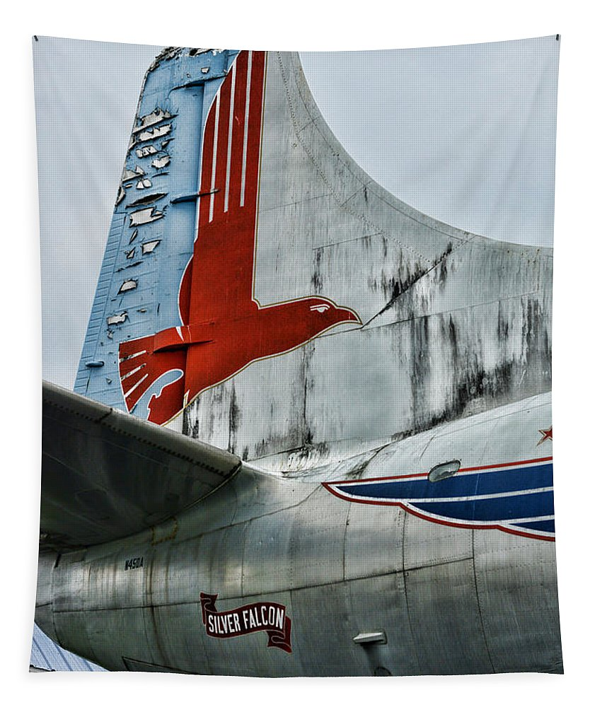 Paul Ward Tapestry featuring the photograph Plane Tail Wing Eastern Air Lines by Paul Ward