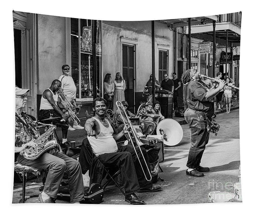 New Orleans Tapestry featuring the photograph Playing Jazz On Royal Street Nola by Kathleen K Parker