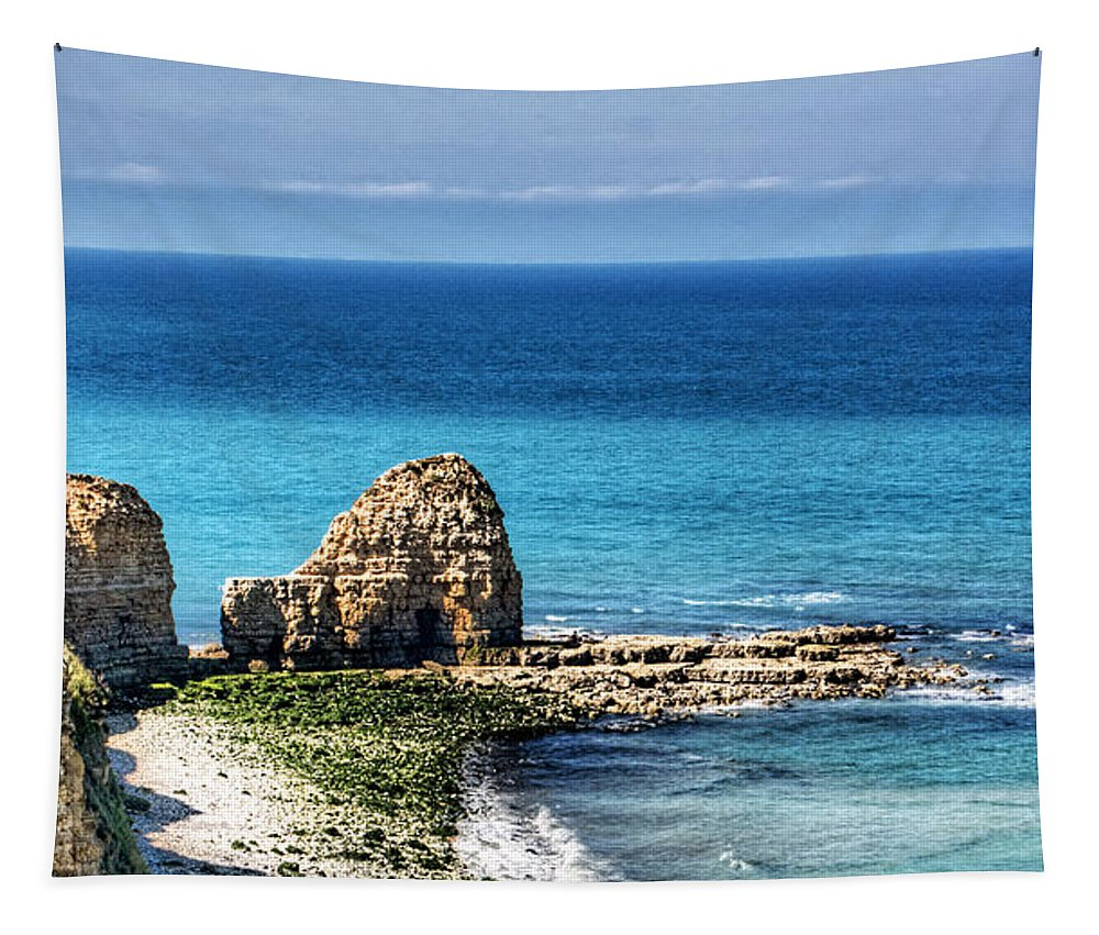 Pointe Du Hoc Tapestry featuring the photograph Pointe Du Hoc by Weston Westmoreland