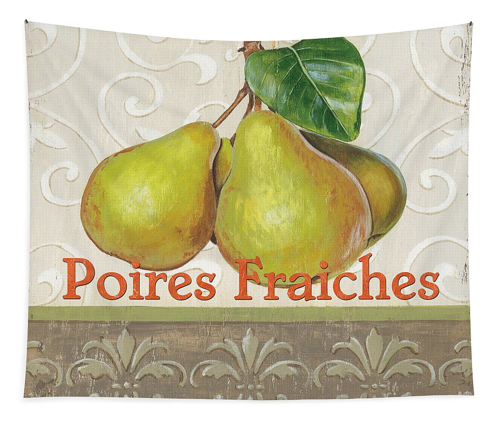 Kitchen Tapestry featuring the painting Poires Fraiches by Debbie DeWitt