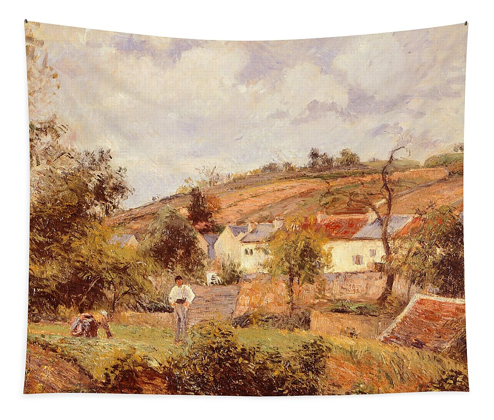 Art Tapestry featuring the painting Pontoise by Camille Pissarro
