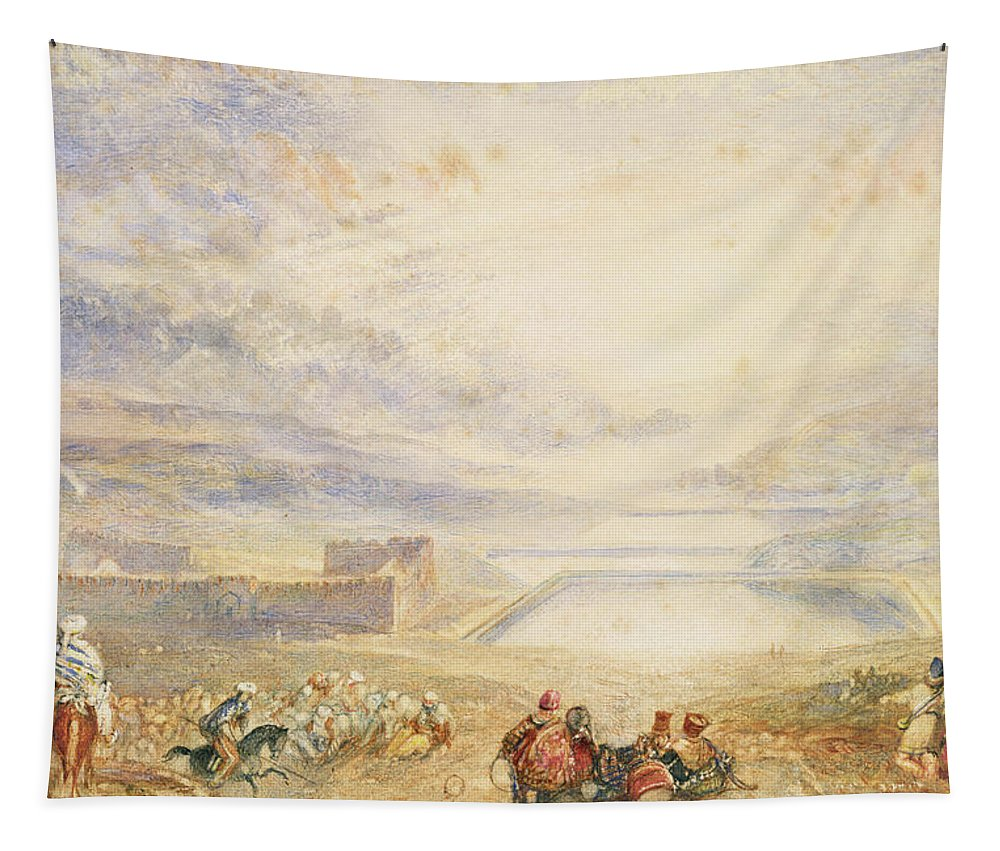 Turner Tapestry featuring the painting Pools Of Solomon by Joseph Mallord William Turner
