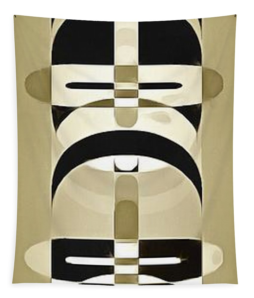 Totem Tapestry featuring the photograph Pop Art People Totem 6 by Edward Fielding