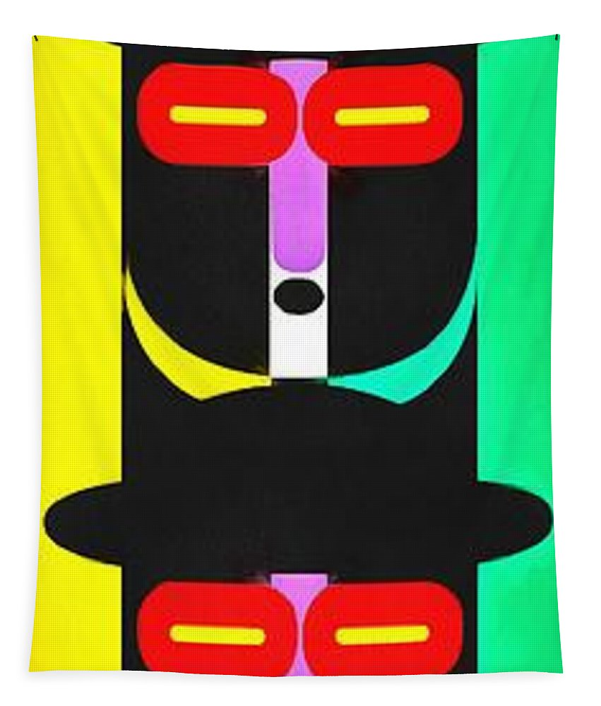Totem Tapestry featuring the photograph Pop Art People Totem 8 by Edward Fielding
