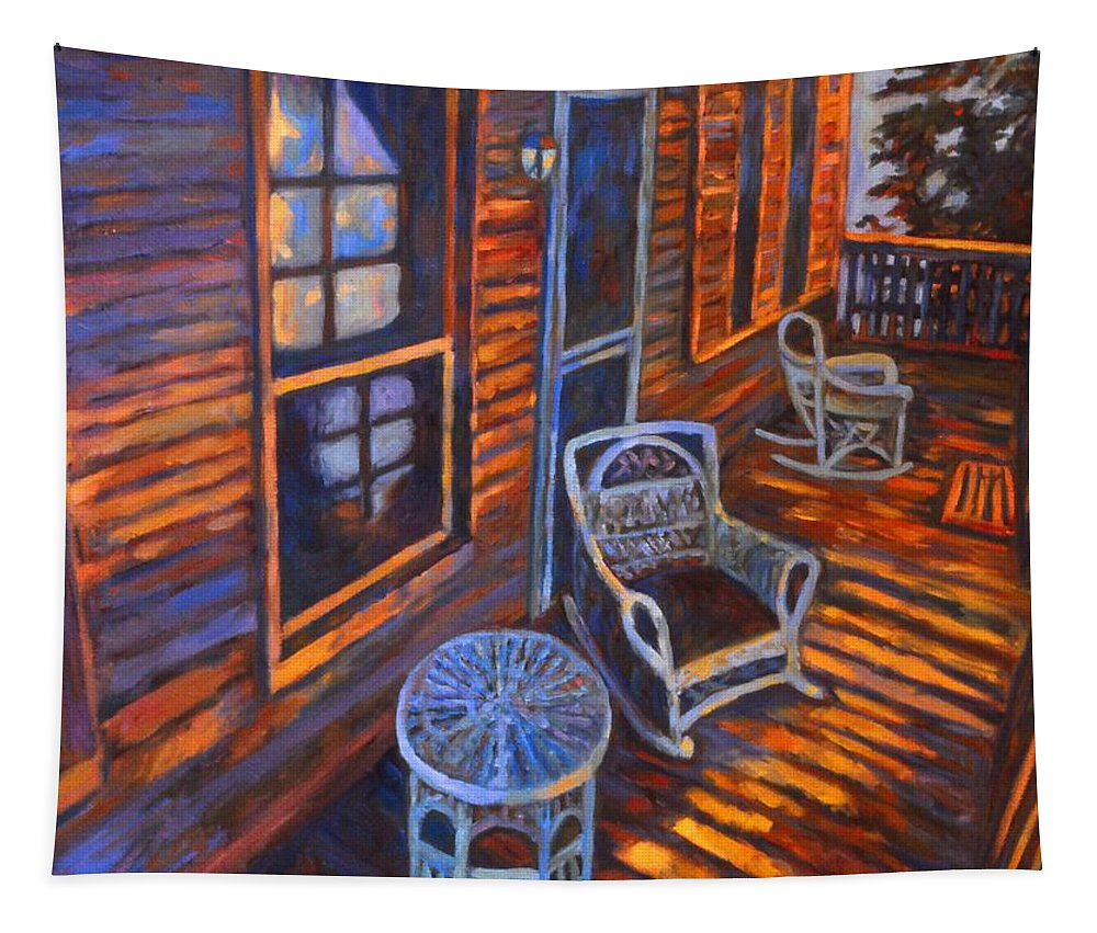 Kendall Kessler Tapestry featuring the painting Porch by Kendall Kessler