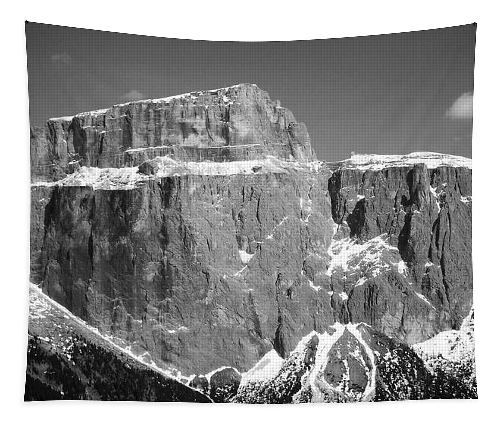 Europe Tapestry featuring the photograph Pordoi Joch - Italy by Juergen Weiss