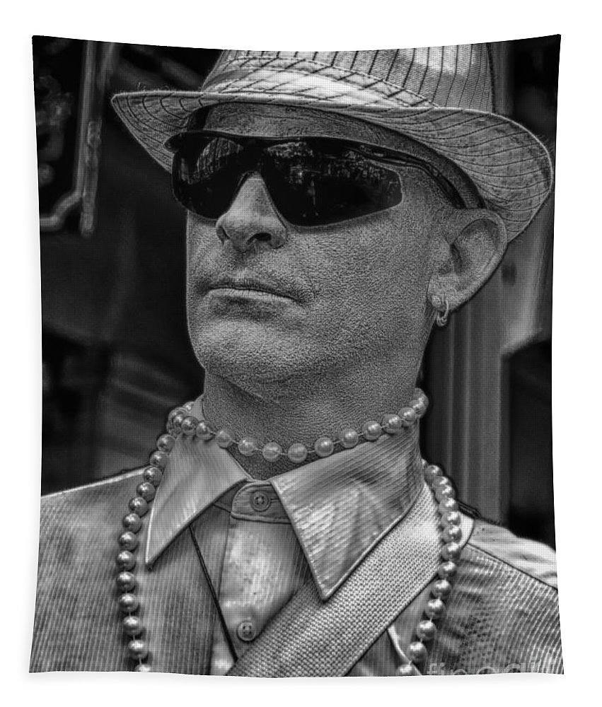 Mime Tapestry featuring the photograph Portrait Of A Mime In Jackson Square by Kathleen K Parker