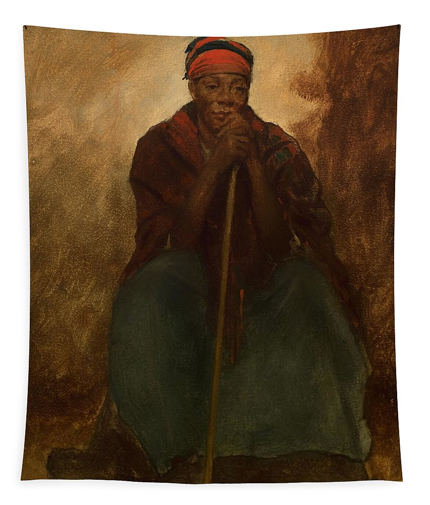 Painting Tapestry featuring the painting Portrait Of A Negress by Mountain Dreams