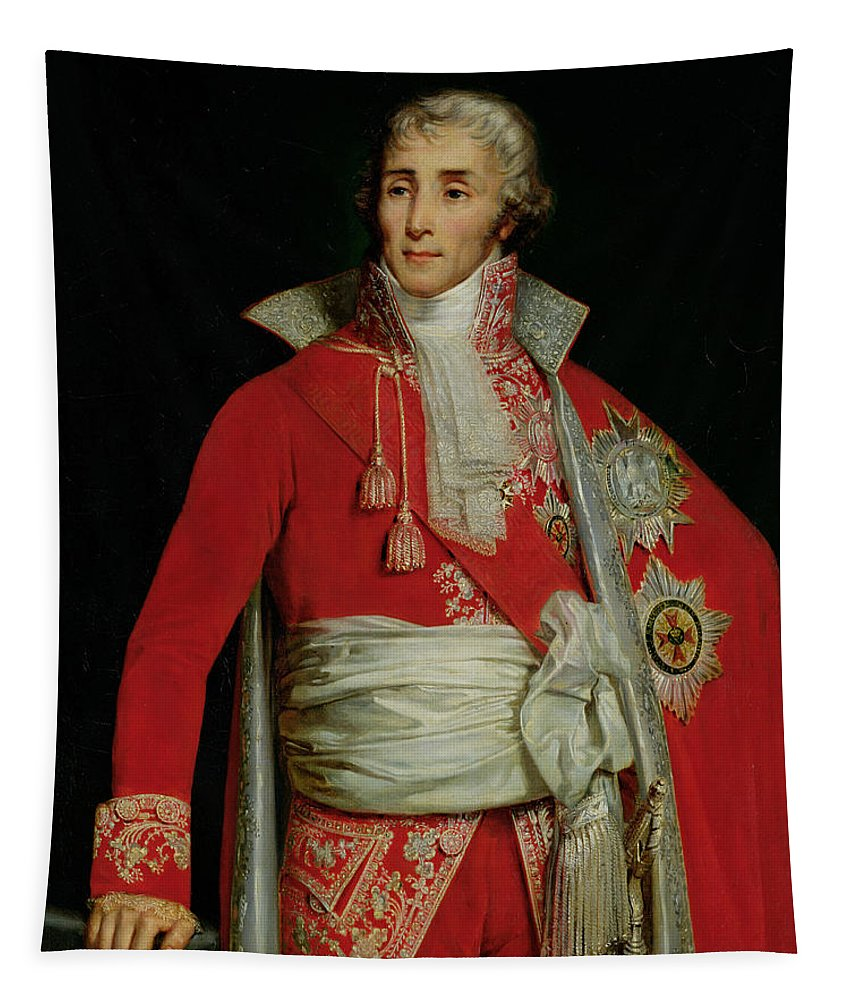 Portrait Of Joseph Fouche Duke Of Otranto Tapestry featuring the painting Portrait Of Joseph Fouche Duke Of Otranto by Edouard Louis Dubufe