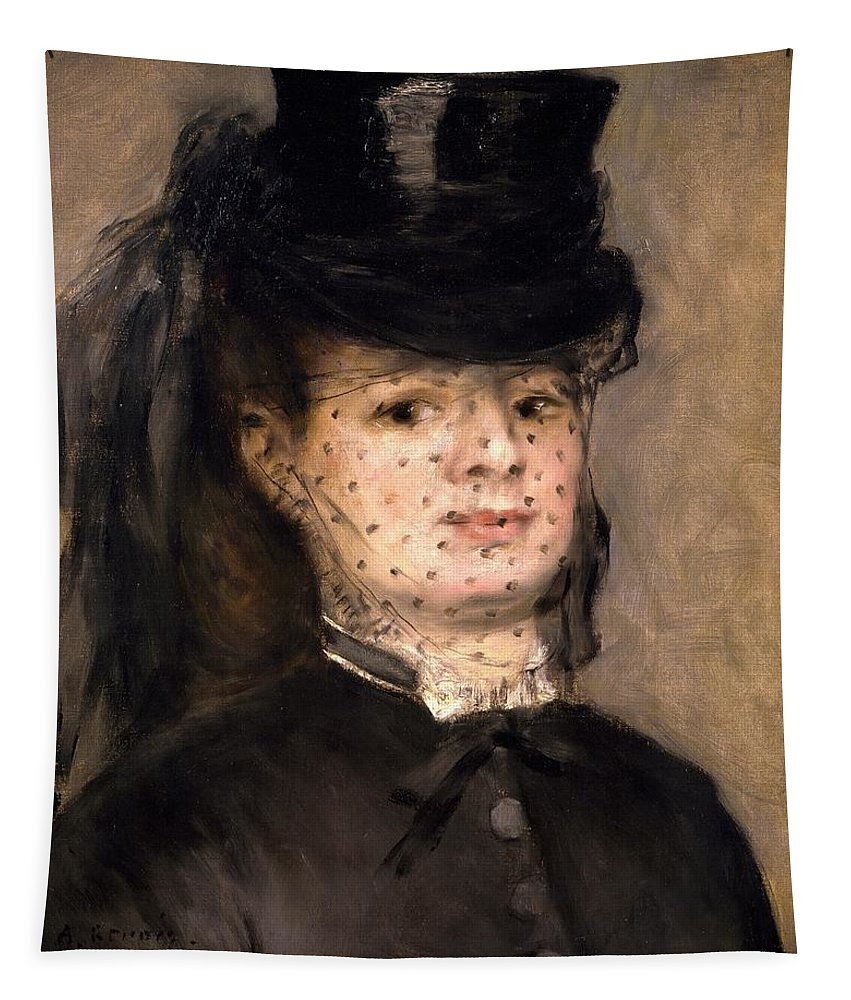 Art; Painting; 19th Century Painting; Europe; France; Renoir Pierre-auguste; Female Portrait; Impressionism Tapestry featuring the painting Portrait Of Madame Paul Darras by Pierre-Auguste Renoir