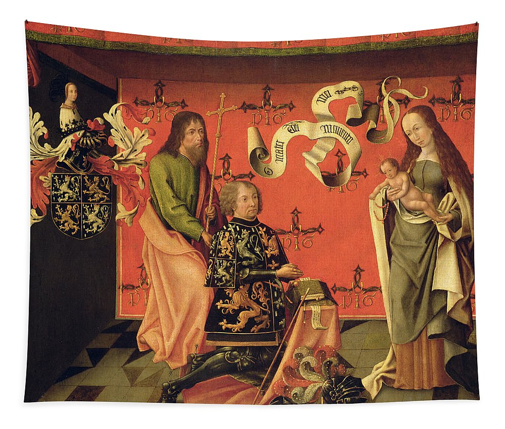 Knight Tapestry featuring the painting Portrait Of The Chevalier Philip by Brabant School