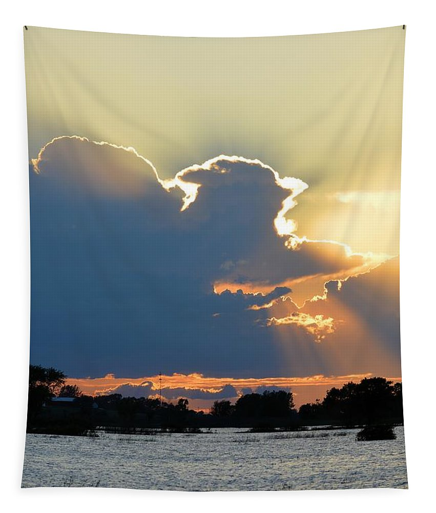 Storm Tapestry featuring the photograph Portrait Of The Sun by Bonfire Photography