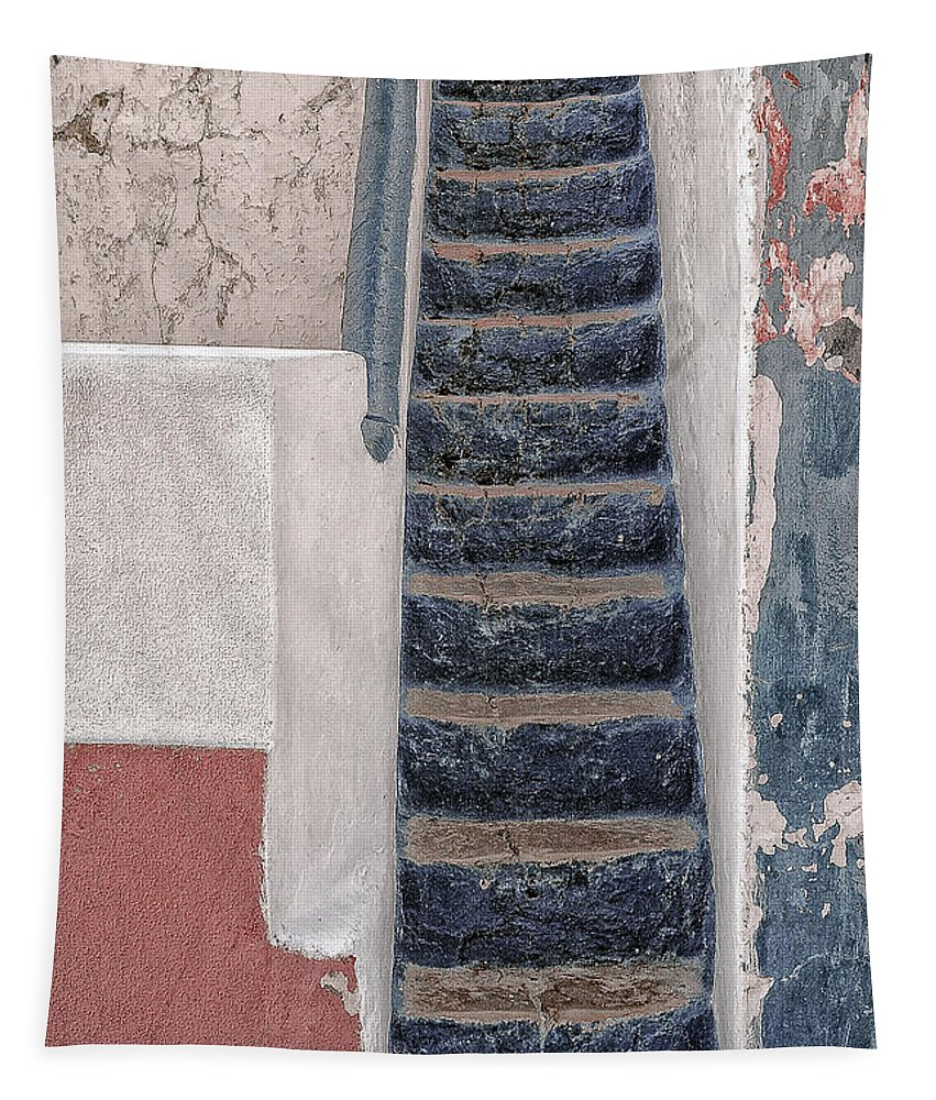 Steps Tapestry featuring the photograph Portugese Steps by Mary Lane