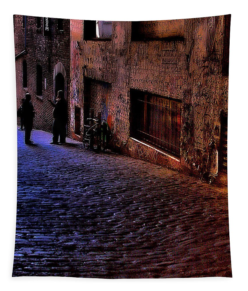 Post Alley Tapestry featuring the photograph Post Alley - Seattle by David Patterson