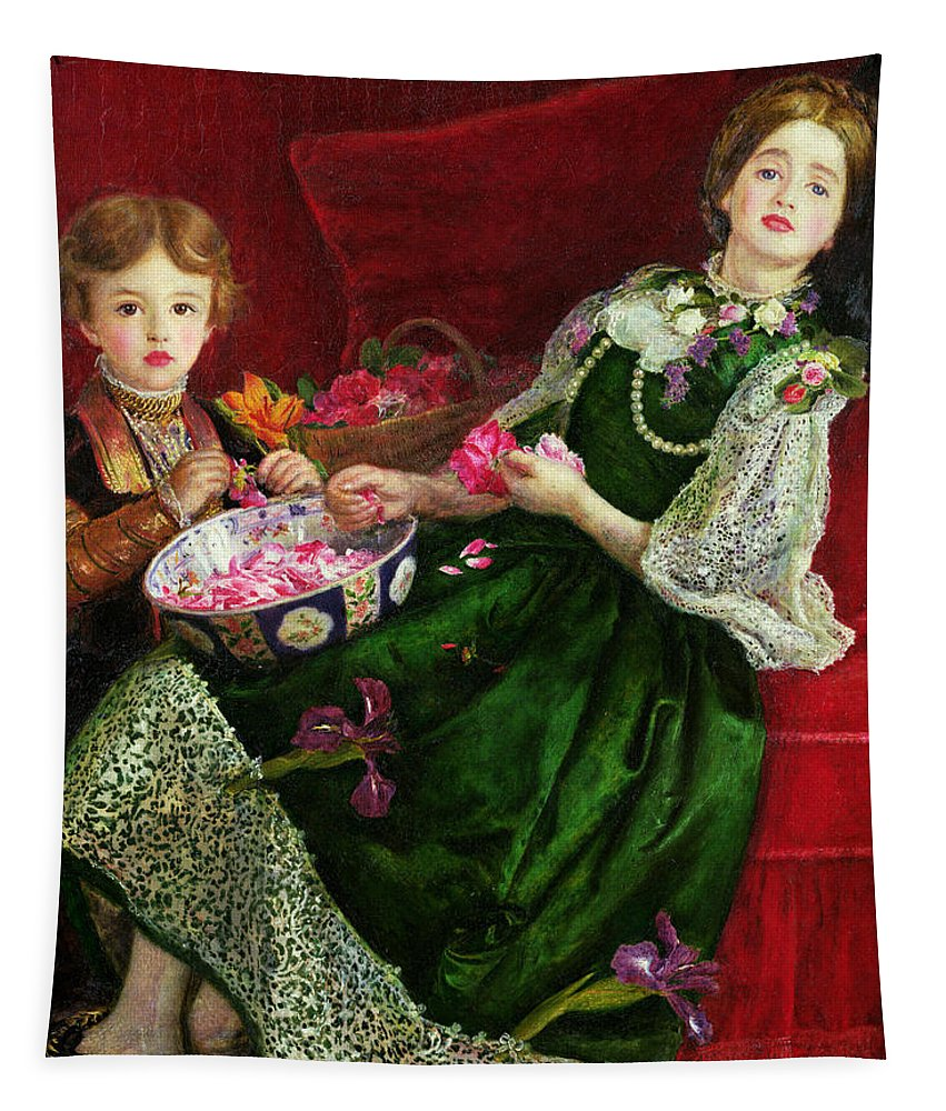 Pot Pourri Tapestry featuring the painting Pot Pourri by Sir John Everett Millais