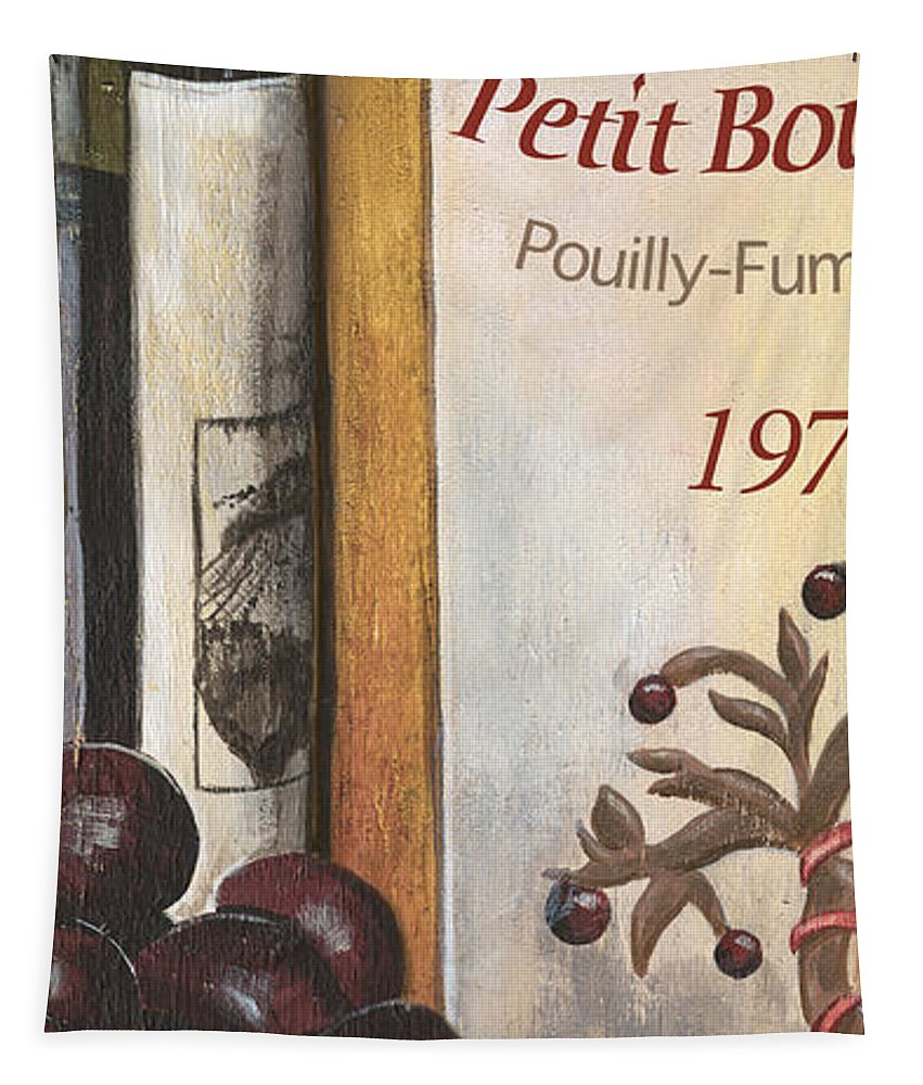 Red Grapes Tapestry featuring the painting Pouilly Fume 1975 by Debbie DeWitt
