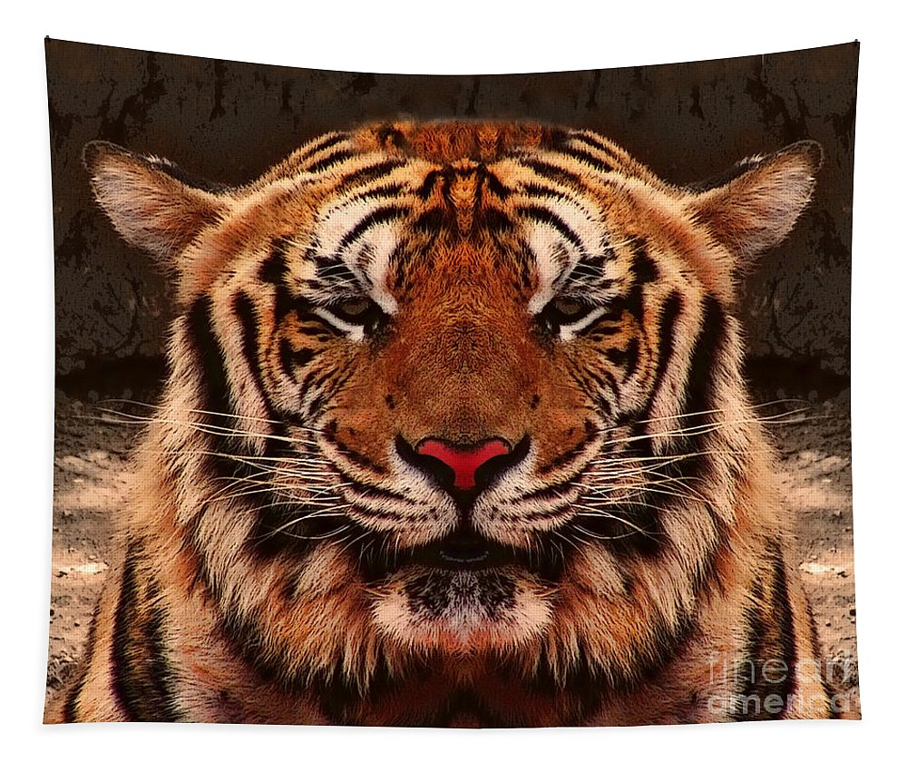 Tiger Tapestry featuring the photograph Power by Ben Yassa