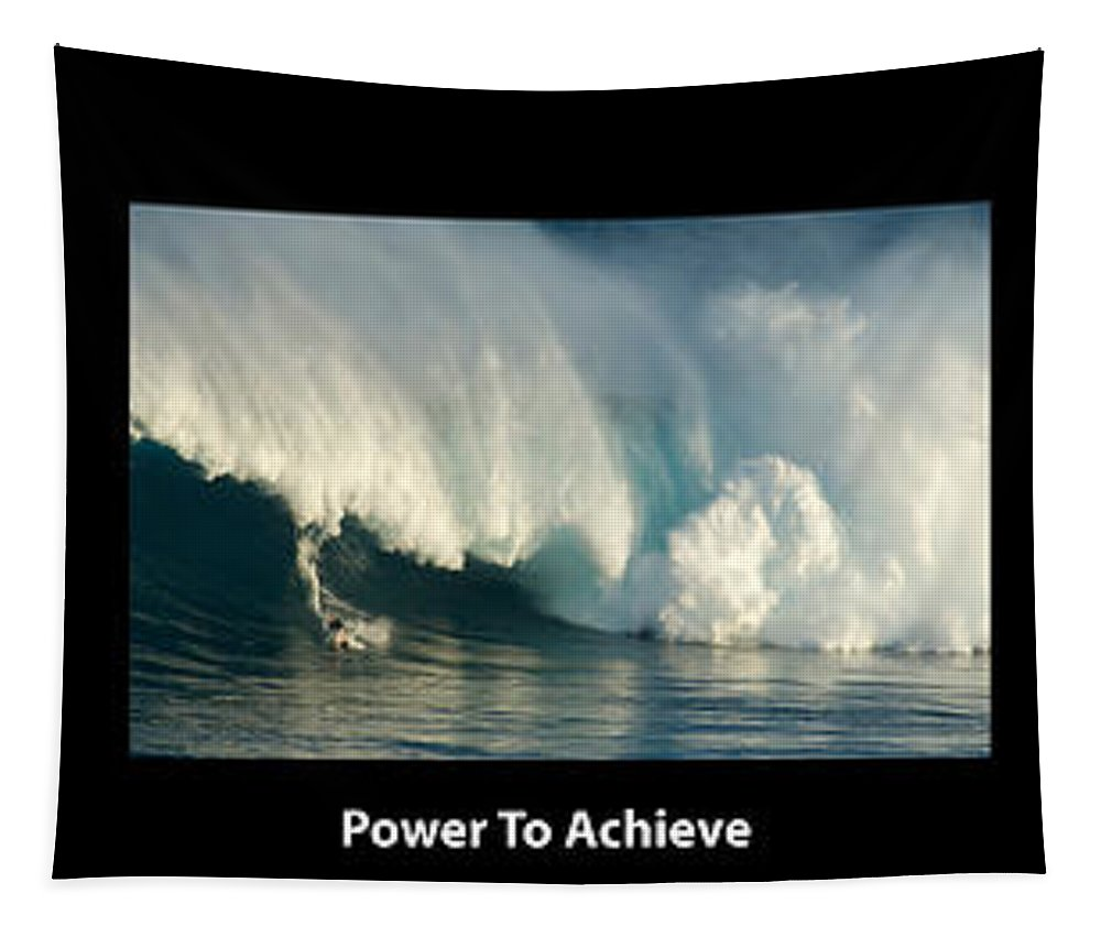 Surfing Tapestry featuring the photograph Power To Achieve by Bob Christopher