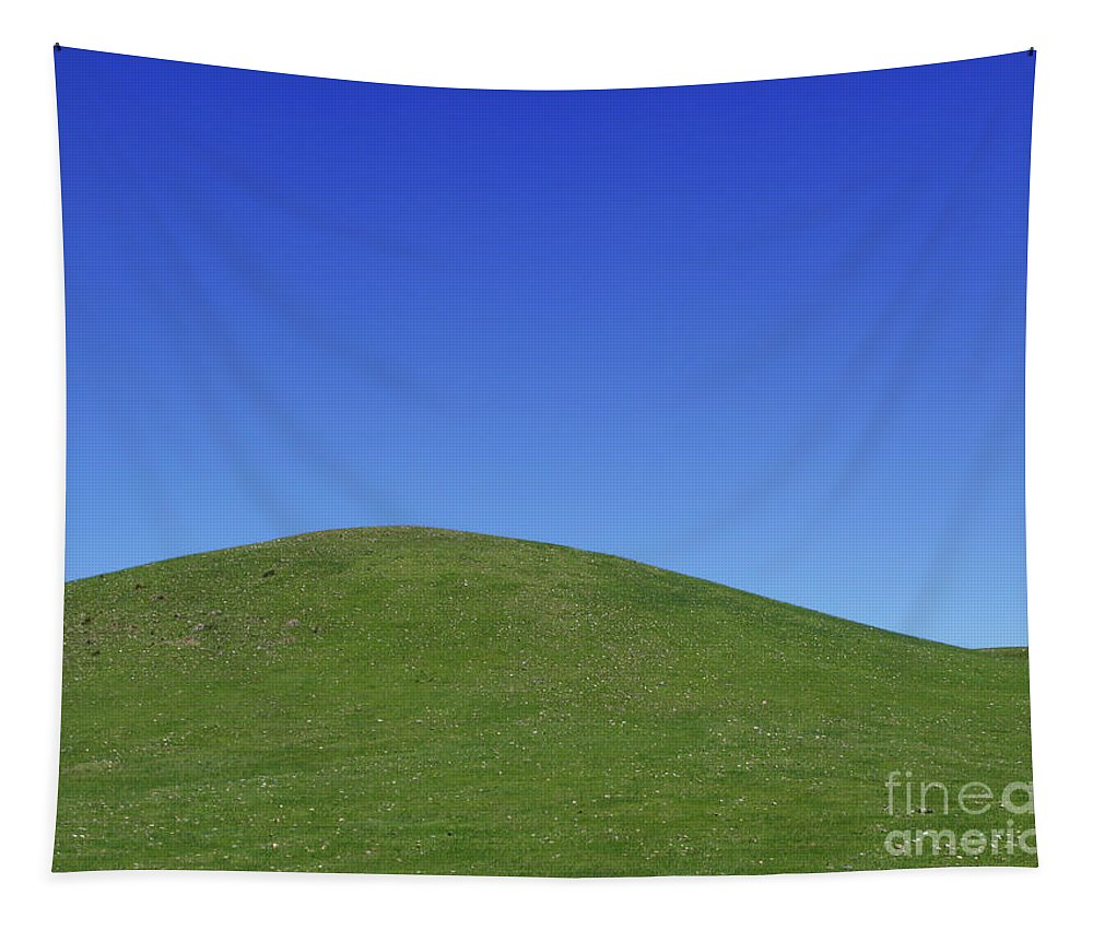 Hill Tapestry featuring the photograph Prairie Hill by Olivier Le Queinec