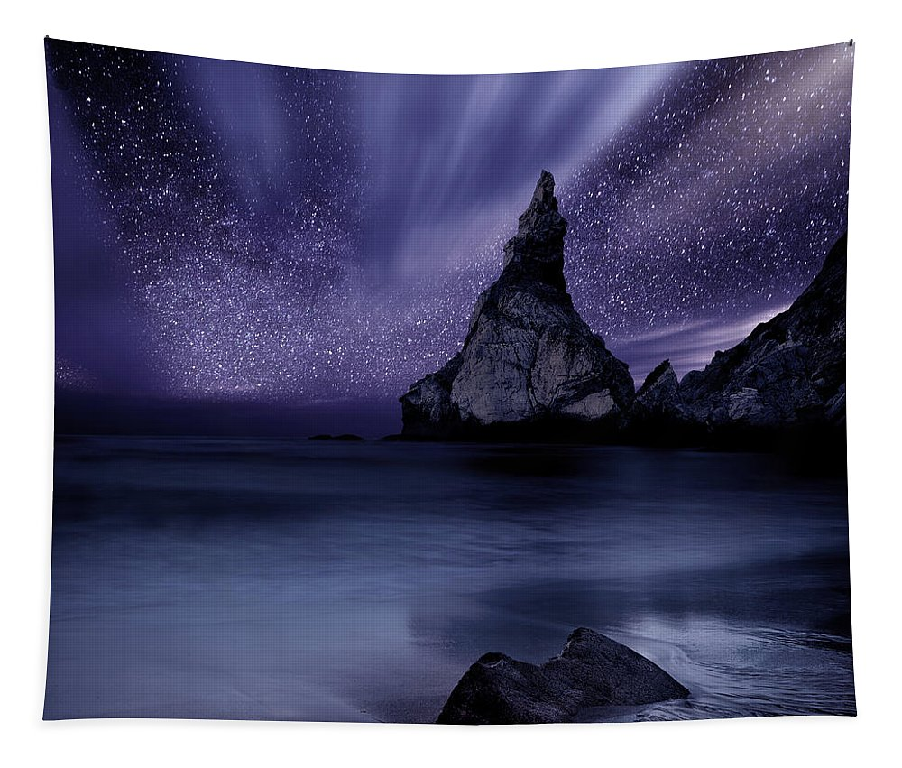 Night Tapestry featuring the photograph Prelude to Divinity by Jorge Maia