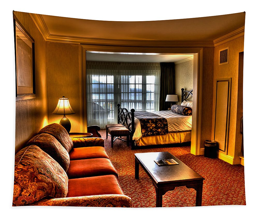 Adirondack's Tapestry featuring the photograph Premier Balcony Suite At The Sagamore Resort by David Patterson